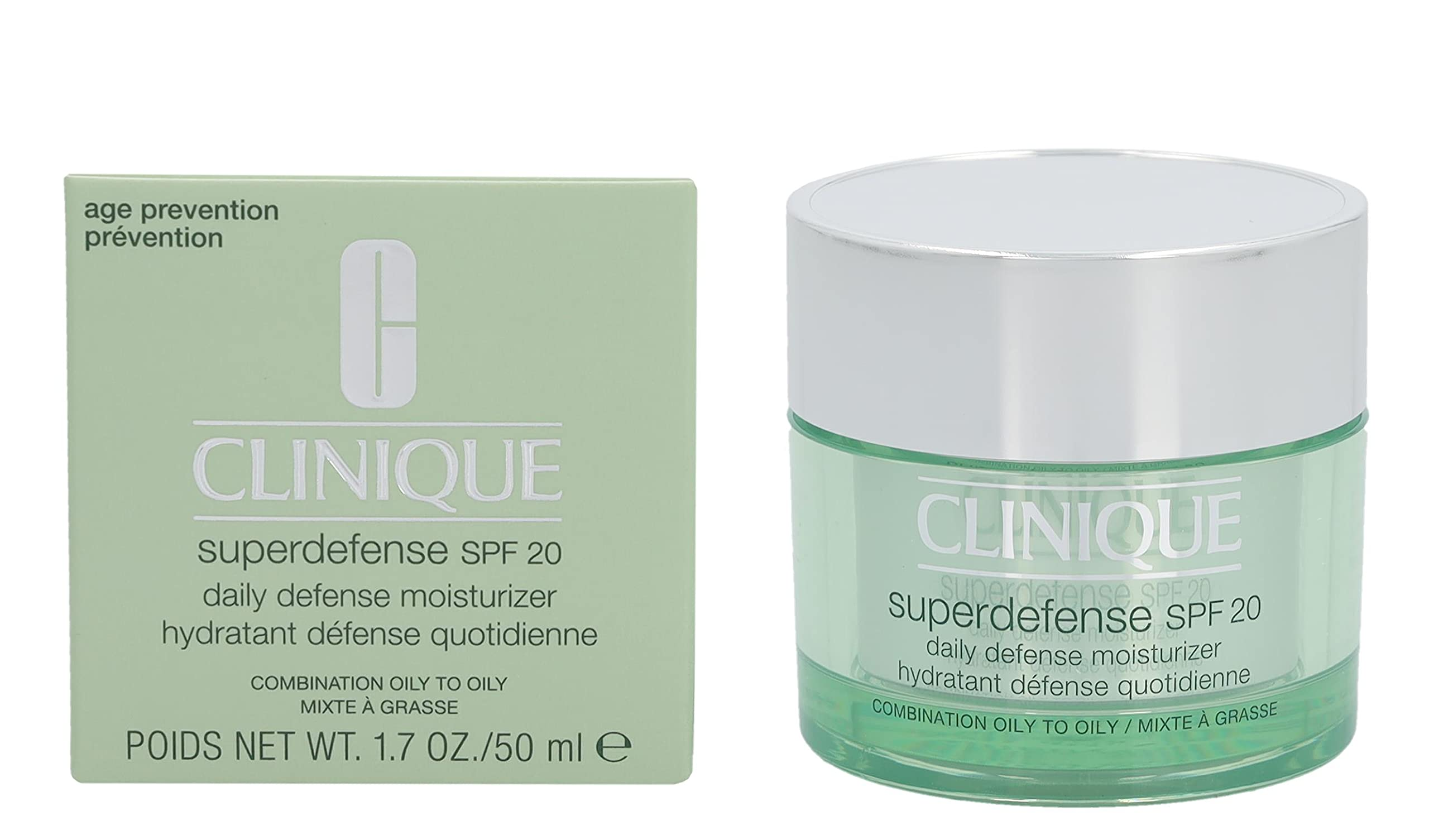 Clinique Superdefense Daily Defense Moisturizer Broad Spectrum SPF 20 Combination Oily to Oily 1.7 Ounce