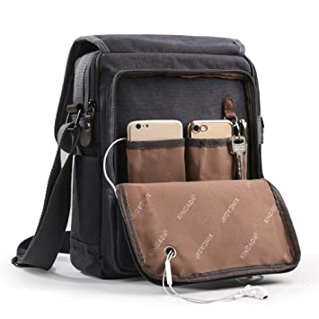 e12db6522f9 Amazon.com   XINCADA Mens Bag Messenger Bag Canvas Shoulder Bags Travel Bag  Man Purse Crossbody Bags for Work Business   Messenger Bags