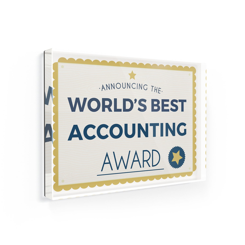 Amazon Fridge Magnet Worlds Best Accounting Certificate Award