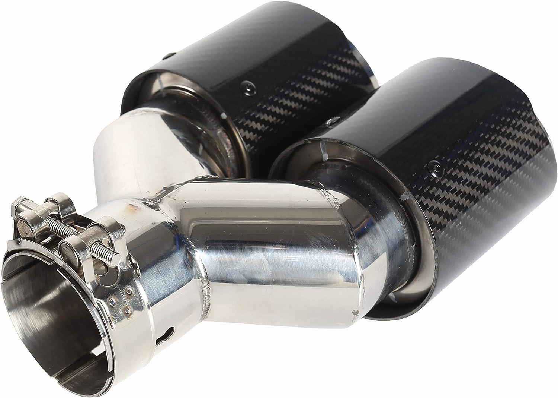 63mm Doppelschalld/ämpfer Spitze Carbon Auto Auspuffrohr Heckspitze Heckspitze