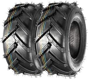 MaxAuto 16x6.50-8 16x6.5x8 Super Lug Lawn Mower Tire Replacement for John Deere Riding Mowers 4PR, Set of 2