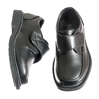 Toddlers / Boys Black Slip On Velcro Dress Shoes