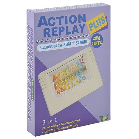 EMS Tarjeta de memoria Action Replay Plus 4M para Sega ...