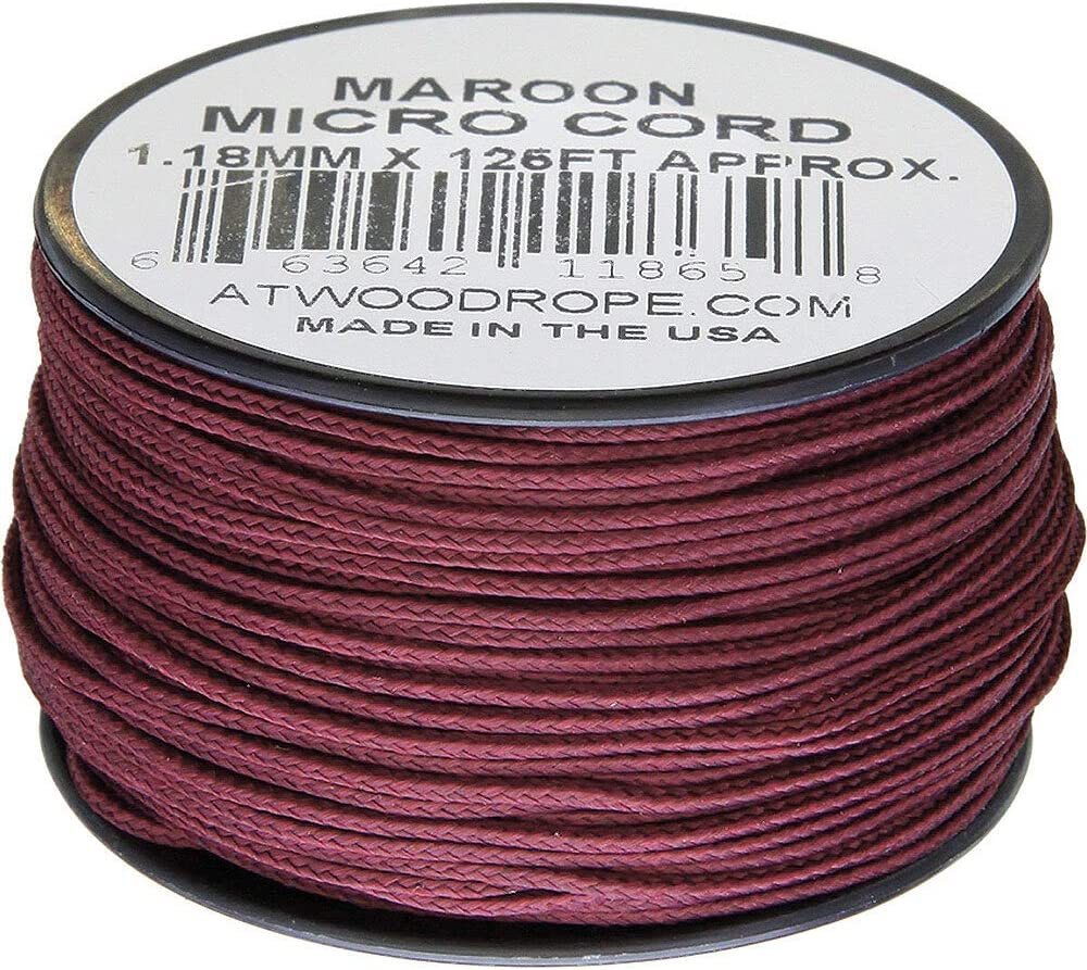 Atwood Rope MFG Micro Cord 125ft Maroon