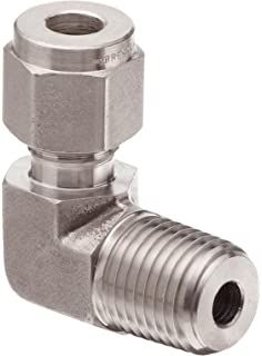 1//4 Tube OD x NPT Female Straight Adapter Brennan N2405-04-04-SS Stainless Steel Compression Tube Fitting