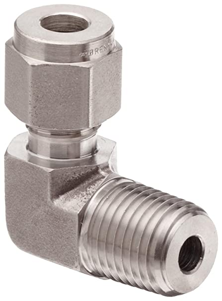 1-1//4-11-1//2 NPTF x 1-5//8-12 SAE Thread 1-1//4 Male NPTF x 1-1//4 Female JIC Swivel 1-1//4-11-1//2 NPTF x 1-5//8-12 SAE Thread 1-1//4 Male NPTF x 1-1//4 Female JIC Swivel Inc. Brennan Industries 6501-20-20-SS Stainless Steel 90 Degree Elbow Tube Fitting