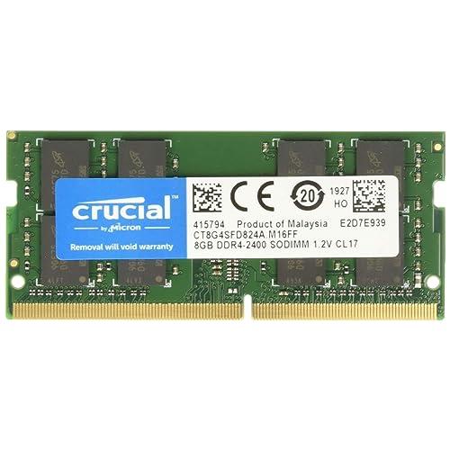 Crucial CT8G4SFD824A Memoria RAM de 8 GB DDR4 2400 MT s PC4 19200 Dual Rank x 8 SODIMM 260 Pin