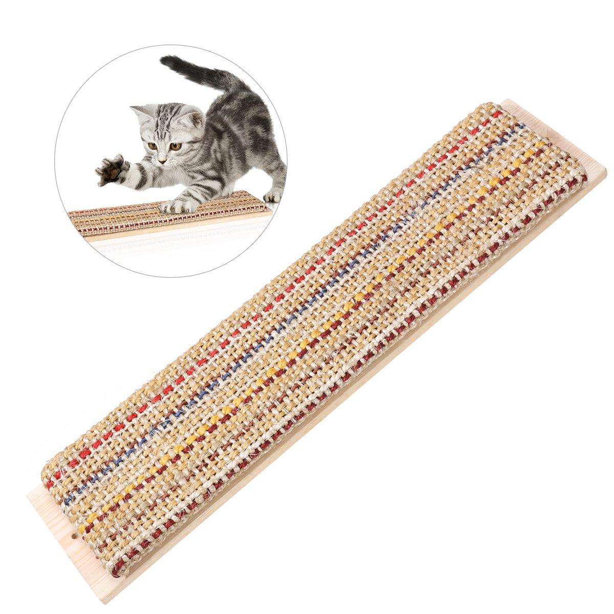 UEETEK Sisal Chanvre Hängenden Scratch Pad Wall Saver Angle Cat Scratcher Matte 44x 10x 2, 5cm UKCOCO