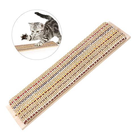 POPETPOP UEETEK Rascador para Gatos Sisal Rascador Juguete para Gato Protector de Pared Esquina Gato Rascador