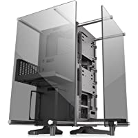 Thermaltake Core P90 Tempered Glass Black ATX Mid Tower Open Frame 2-Sided Glass Viewing, Tt LCS Certified Gaming Computer Case Chassis, CA-1J8-00M1WN-00