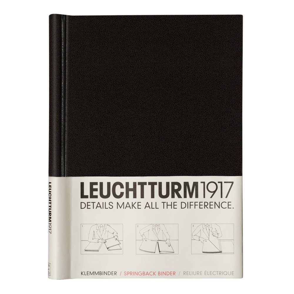 Leuchtturm1917 A4 Springback Binder, Measures 8.3 by 11.7 inches, Black (318056) by LEUCHTTURM1917 (Image #1)