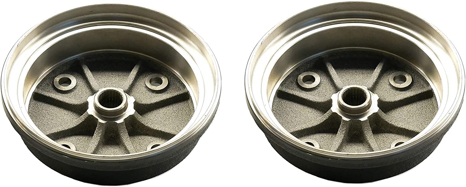 4000 Replacement to OE 41038-0034 Pair of Front Brake Drums for Kawasaki Mule 3000 4010 2x4 4x4 UTV 3010 41038-1345