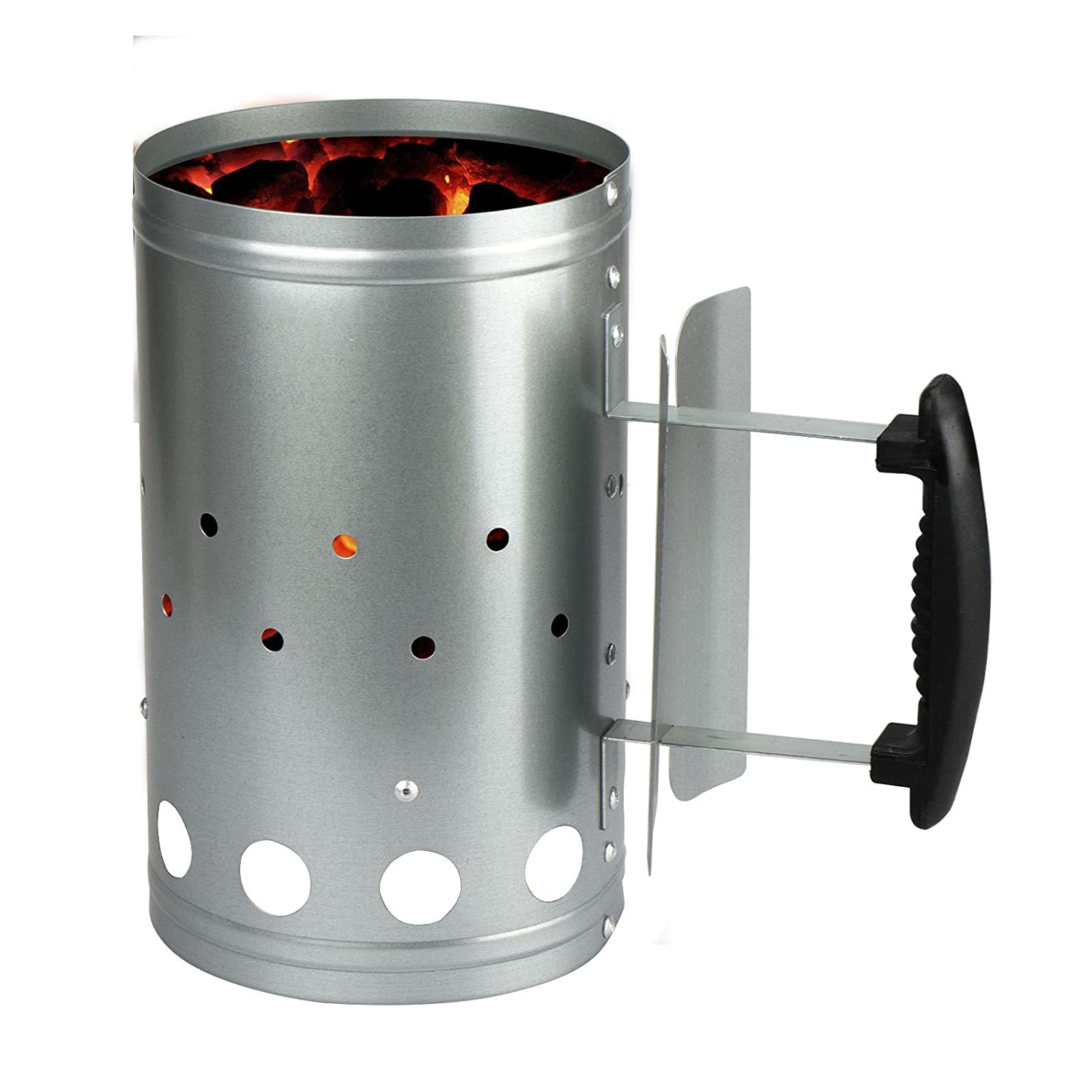 ASAB Barbecue BBQ Chimney Starter Quick Start Charcoal Burner Fire Lighter Coal Food Summer Garden Party (Medium)