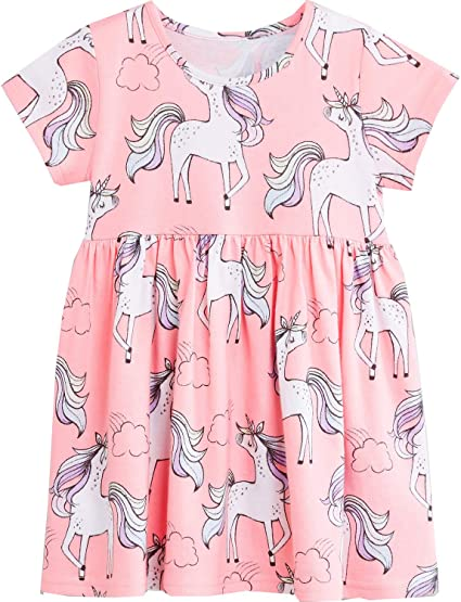 Bumeex Baby Toddler Girls Cotton Long Sleeve Dress