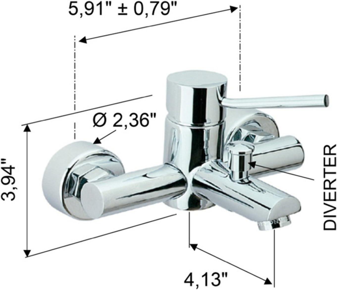 Remer N05 Tub Filler 4 L x 5.91 W