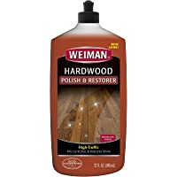 Weiman Wood Floor Polish and Restorer - 32 Ounce - High-Traffic Hardwood Floor, Natural Shine, Removes Scratches, Leaves…