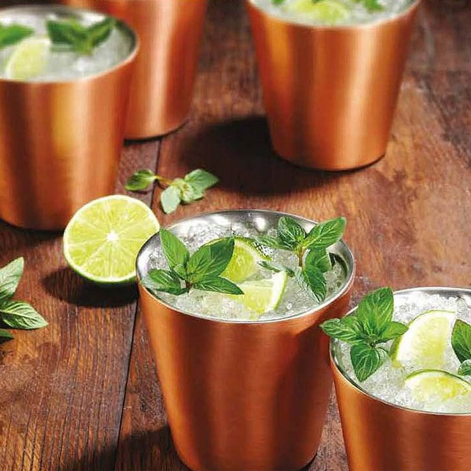 Member's Mark 14 oz. Double-Wall Shorty Mule Mug, Set of 6, Copper by Member's Mark