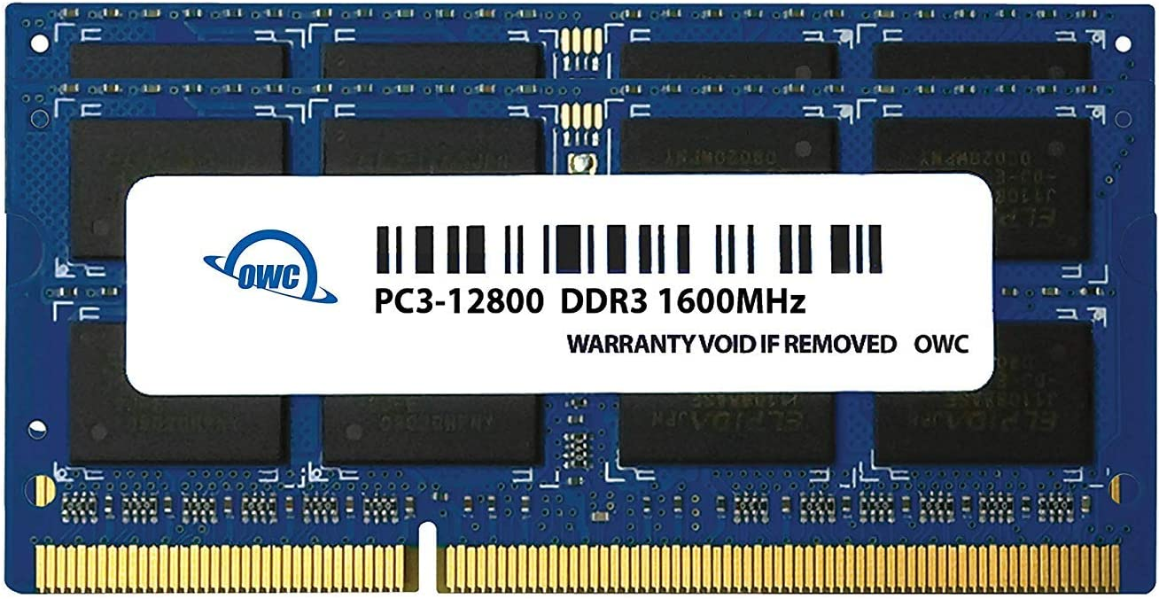 OWC 8GB (2x4GB) PC3-12800 DDR3L 1600MHz SO-DIMM 204 Pin CL11 Memory Upgrade Kit for iMac, Mac Mini, and MacBook Pro, (OWC1600DDR3S08S)