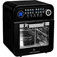 ChefWave 12.6-Quart Air Fryer Oven with Dehydrator in Black