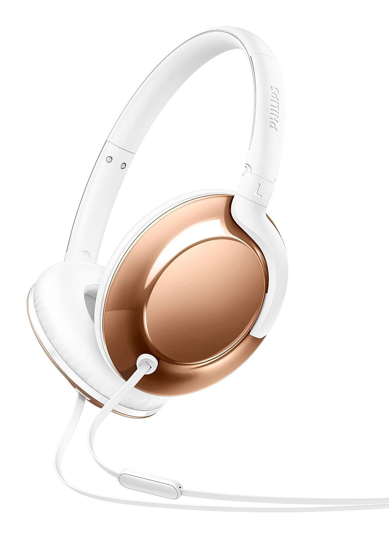 Philips Flite SHL4805RG - Auriculares de Diadema Cerrados (micrófono, diseño metálico, Ultraligero, Plegable), Color Oro Rosa: Amazon.es: Electrónica