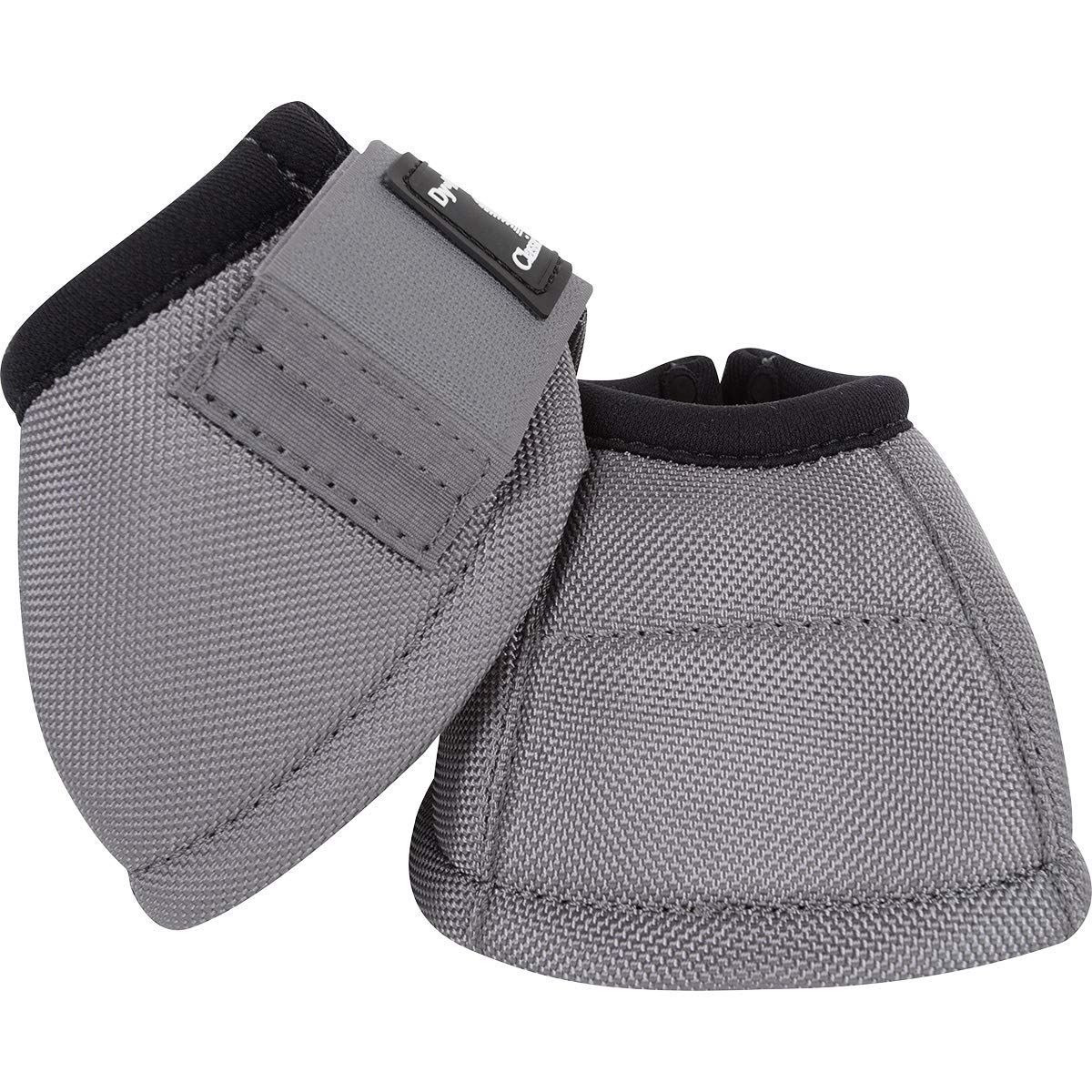 Classic Equine Dyno Turn Bell Boots, Medium, Grey by Classic Equine