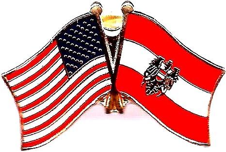 Details about  /Pack of 3 USA American Austria Eagle Friendship Flag Bike Hat Cap lapel Pin