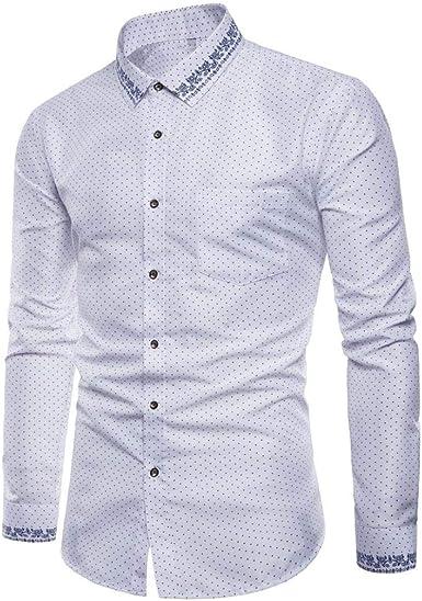 FAMILIZO Camisas Hombre Manga Larga Slim Fit Camisas Hombre ...
