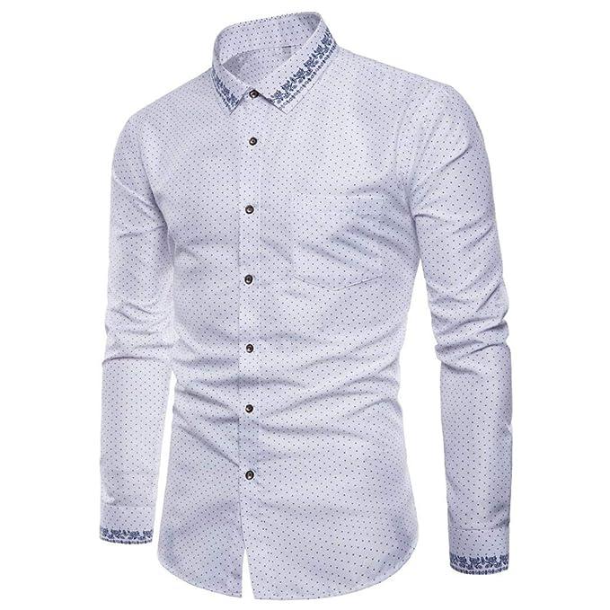 FAMILIZO Camisas Hombre Manga Larga Slim Fit Camisas Hombre Lino Camisas Hombre Originales Baratas Negocio Tops Blusa Hombre Blanca Otoño Moda Business ...