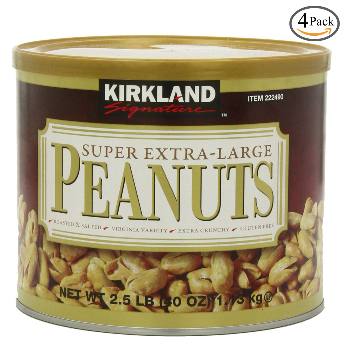 Kirkland Signature Super XL VA Peanuts, 40 Ounce, 3 Pack by Kirkland Signature