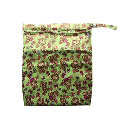 206f5da2b918fb Buy Prettyia Washable Reusable Cloth Nappy Wet Bag Waterproof Swim Sport  Travel Carry Bag Diaper Bag Baby Wet Nappy Bag - Happy Bear Online at Low  Prices in ...