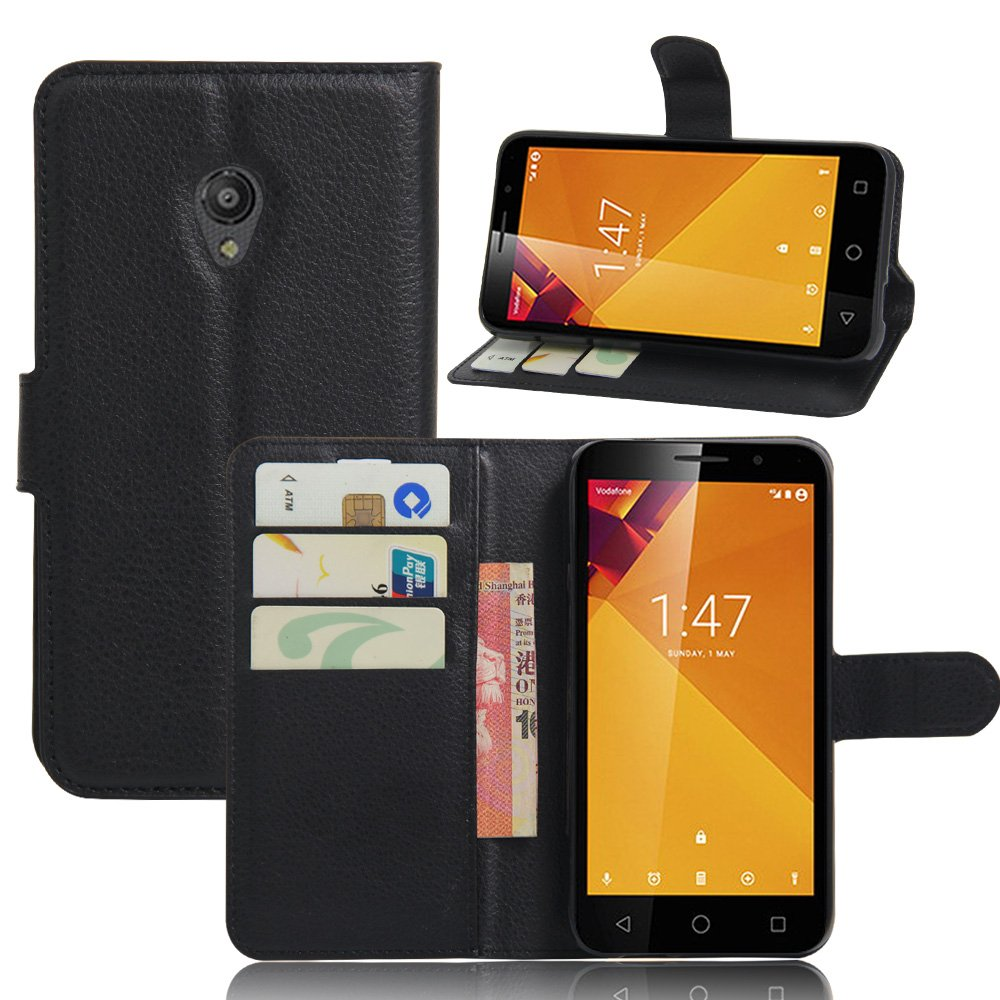 Vodafone Smart Turbo 7 VFD500 Case, DISLAND(TM) Flip PU Leather Card Slot Case Magnetic Closure Stand Cover Fashion Wallet Case for Vodafone Smart Turbo 7 ...