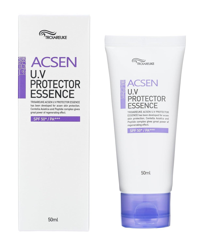TROIAREUKE ACSEN UV Protector Sun Essence 1.69 Ounce, SPF50+ PA+++