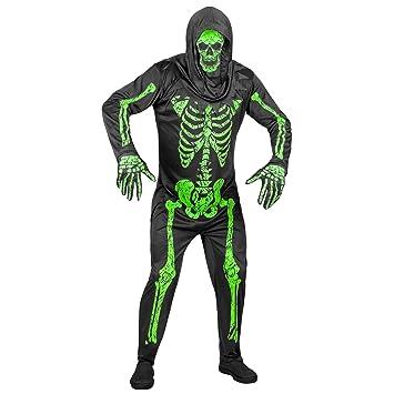WIDMANN - Disfraz de esqueleto fluorescente para hombre ...