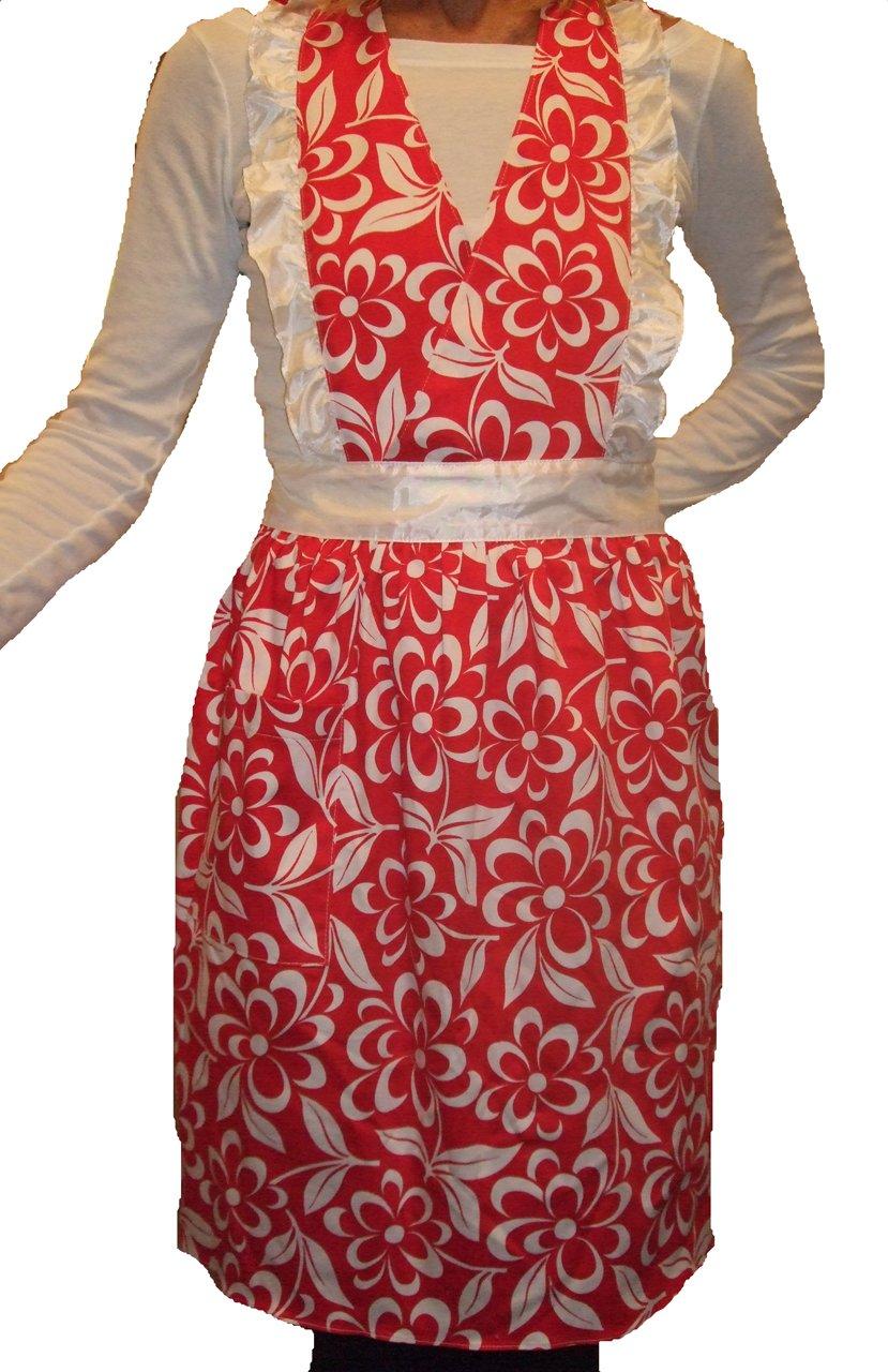 White ruffle apron amazon - Amazon Com American Hostess Victorian Ruffle Apron Black And White Check Pattern Home Kitchen