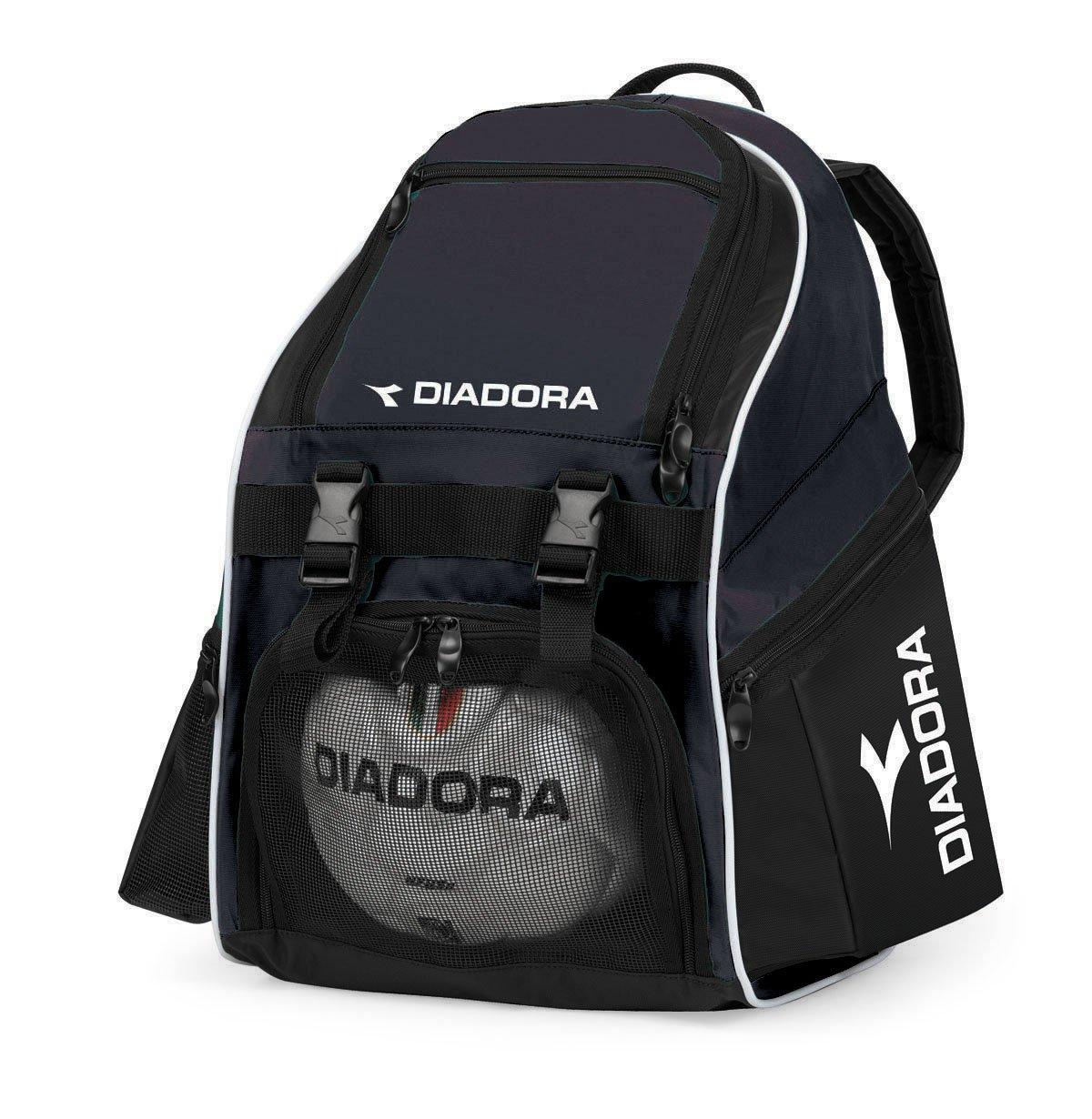 Diadora Squadraサッカーバックパック(ボックスof 12 ) B01DPSV62Eブラック
