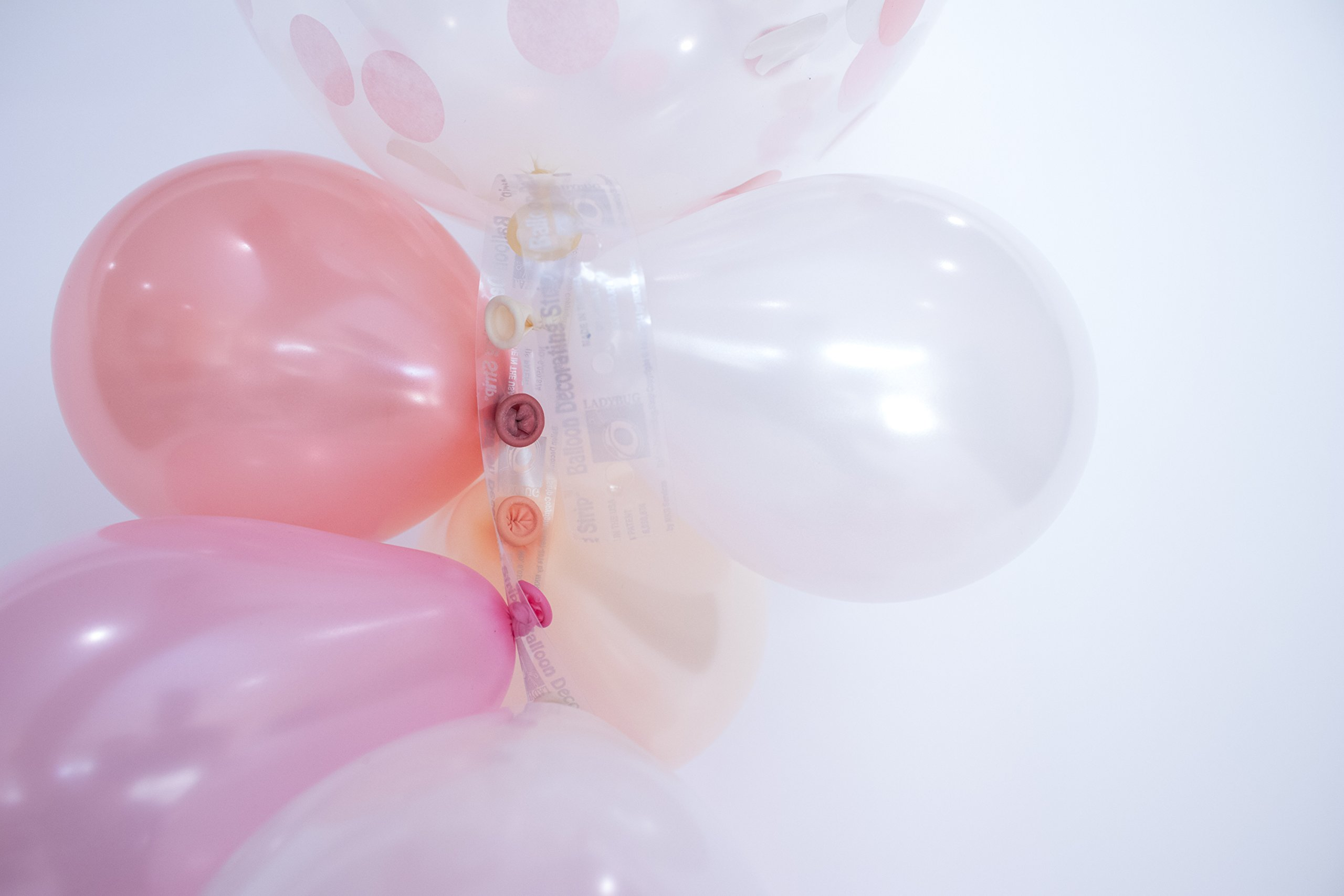 Baby Shower Decorations for Girl | Baby Girl Party Supplies| It's a Girl | Balloon Garland with 72 Balloons 11'' & 5'' Pink, Blush and Confetti with Rose Gold Baby Script Balloon (Pink)