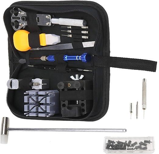 Creative-Idea 144 x – Estuche de Herramientas relojero de reparación de Reloj Profesional Juego de módulos con Muelle para abrelatas con Funda detransport: Amazon.es: Hogar