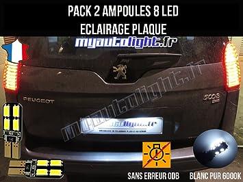 Pack Bombillas LED iluminación placa para Peugeot 3008: Amazon.es: Coche y moto