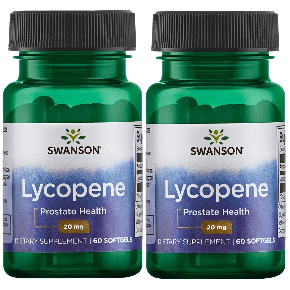 Swanson Lycopene Supplement, Prostate Health Supplement 20 mg, 60 Softgels (2 Pack) by Swanson
