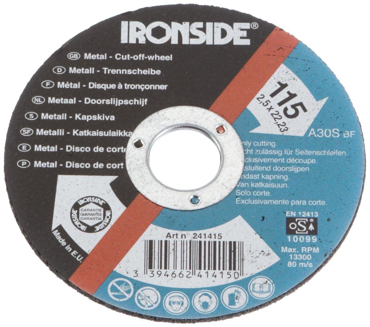 Multicolore Ironside 241415 Disque /à tron/çonner 115x2,5mm pour m/étal