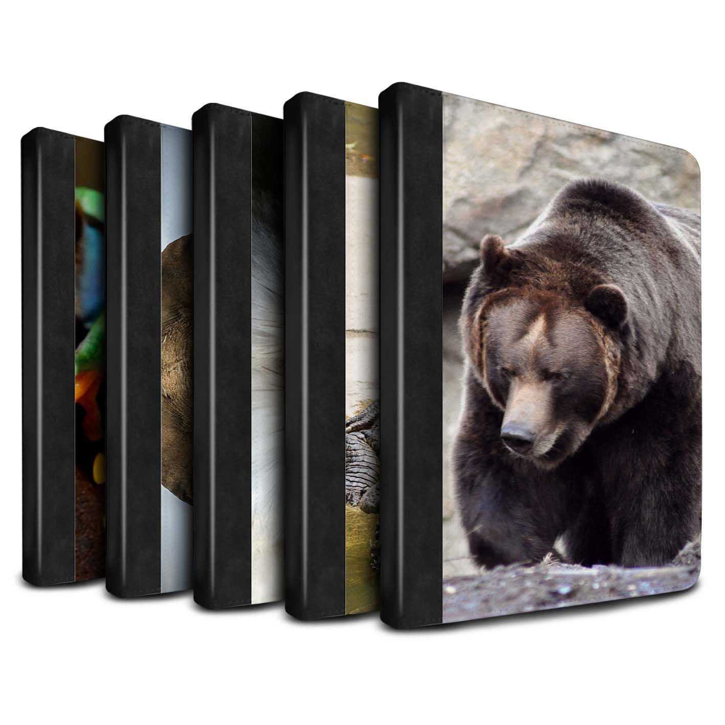 STUFF4 PU Leather Book/Cover Case for Apple iPad 9.7 (2017) tablets / Multipack (20 Pck) Design / Wildlife Animals Collection