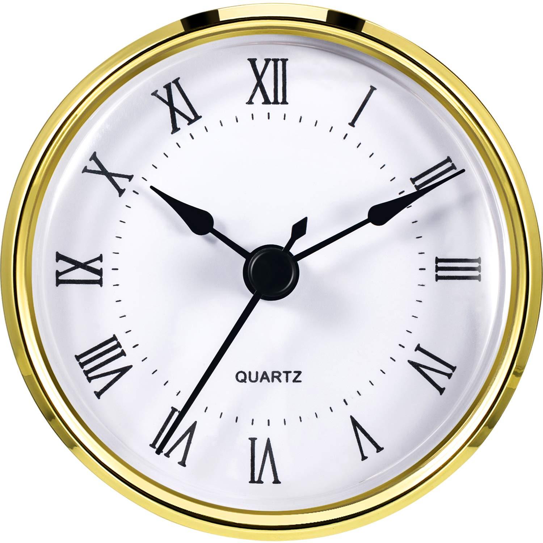 Amazoncom Hicarer Round Clock Insert 3 18 Inch 80 Mm Quartz - 3-roman-numerals-clocks