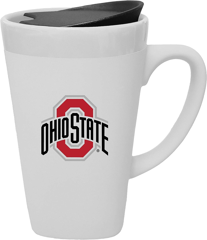 The Fanatic Group Ohio State University Porcelain Mug with Swivel Lid, Design 1