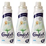 Comfort Concentrated Fabric Softener Baby, 750 ml (Pack of 3)