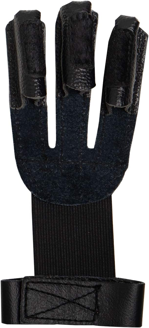 Archery Protective Glove Archery Three Finger Gloves Leather Three Finger Protector for Youth Adult and Beginner Black : Sports & Outdoors
