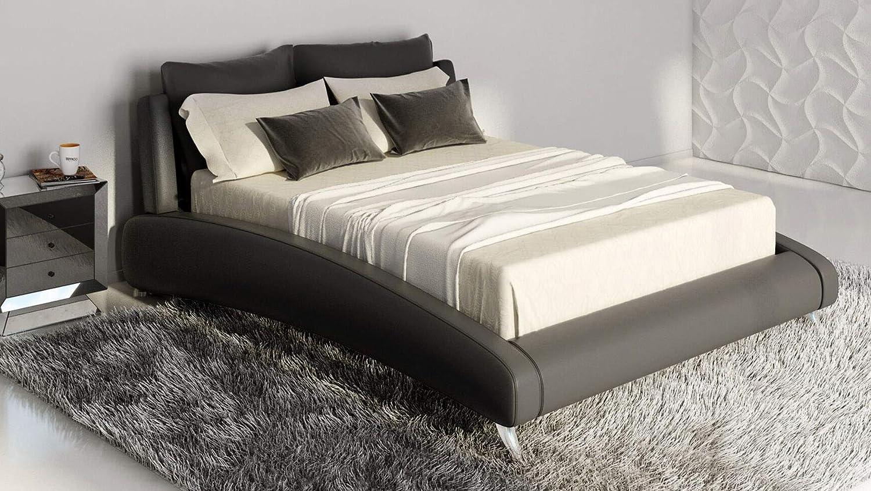 Zuri Furniture Cadillac Cal King Black Leather Platform Bed