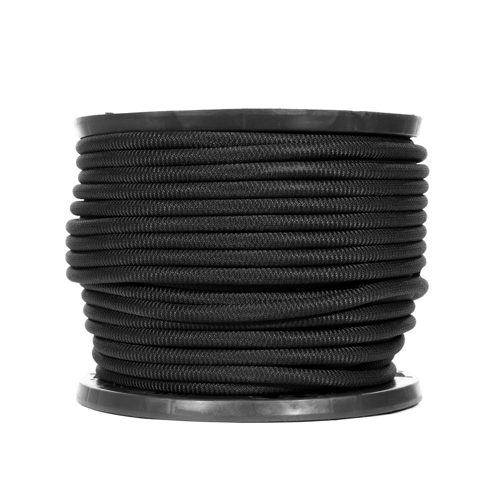 Shock Cord-1//8 3//8 3//4 Inches-Black Diamond Weave Elastic Bungee Cord-Features 100/% Stretch Strong Hold-Camping Shock Absorbent 1//4 Kayak Decks 1//2 Tie-Downs Golberg Gravity Chairs Crafting