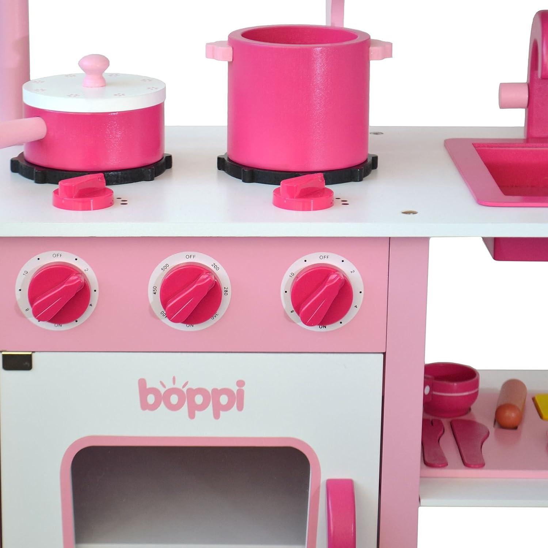 Verführerisch Pinke Küche Ideen Von Bopster Kinder Holz-spielzeug Küche Mit 20 Zugehörigenteilen: