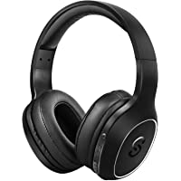 Cascos Bluetooth 4.1 SoundPEATS A2 Upgrade Auriculares de Diadema Inalámbricos Over-Ear con Micrófono Manos Libres Super Bass 20 Horas de Duración (Negro Upgrade)