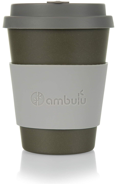 Taza de café reutilizable para viajes y para llevar a cabo 350 ml, taza de bambú portátil con tapa, 2 fundas, bolsa de transporte, plástico y sin BPA, ...